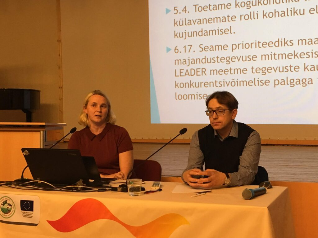 Triin Kallas ja Valdek Haugas (Eestie Leader Liit). Foto: Ave Bremse